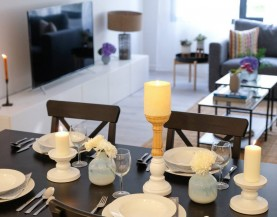 2 BHK Luxurious Dining Table|2 BHK Dining Area